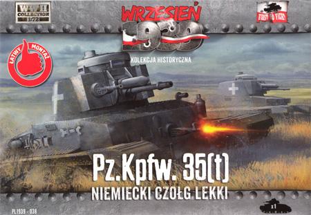 ドイツ シュコダ Pz.kpfw35(t) 軽戦車プラモデル(FTF1/72 AFVNo.PL1939-038)商品画像