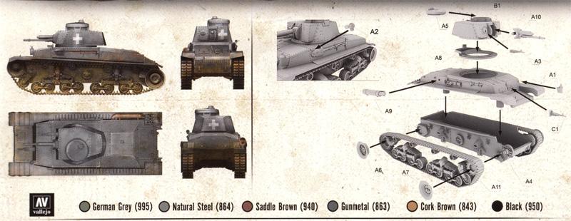 ドイツ シュコダ Pz.kpfw35(t) 軽戦車プラモデル(FTF1/72 AFVNo.PL1939-038)商品画像_1