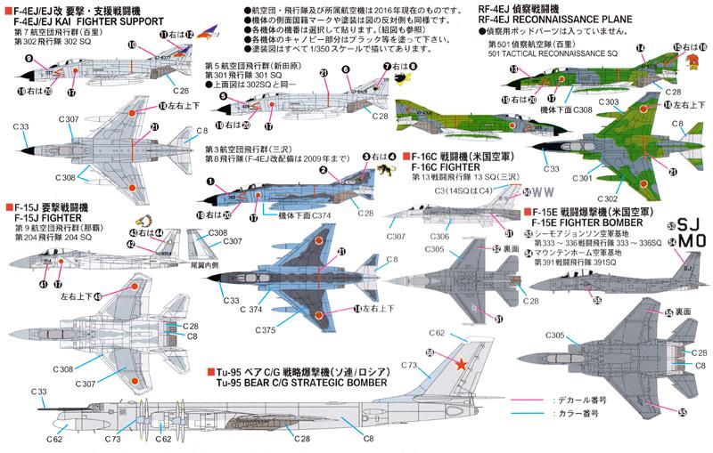 航空自衛隊機セット 3プラモデル(ピットロードスカイウェーブ S シリーズNo.S-039)商品画像_1
