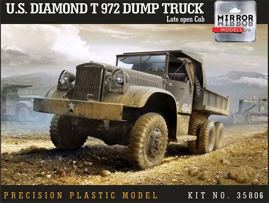 ダイアモンド T972 ダンプトラック オープンキャブプラモデル(ミラーモデルズ1/35 AFVモデルNo.35806)商品画像