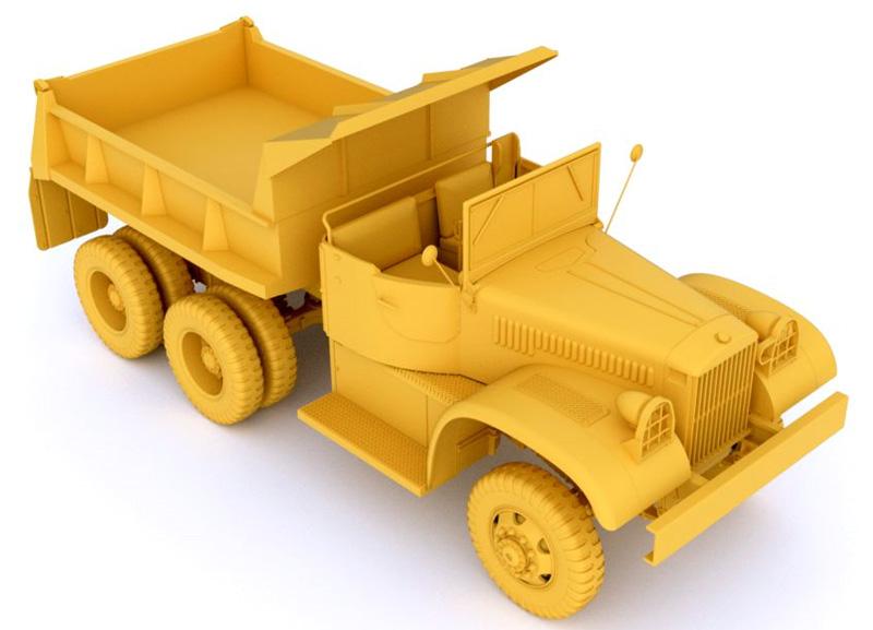 ダイアモンド T972 ダンプトラック オープンキャブプラモデル(ミラーモデルズ1/35 AFVモデルNo.35806)商品画像_2