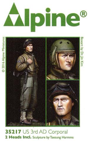 WW2 アメリカ 第3機甲師団 伍長 (HBTツナギ)レジン(アルパイン1/35 フィギュアNo.AM35217)商品画像