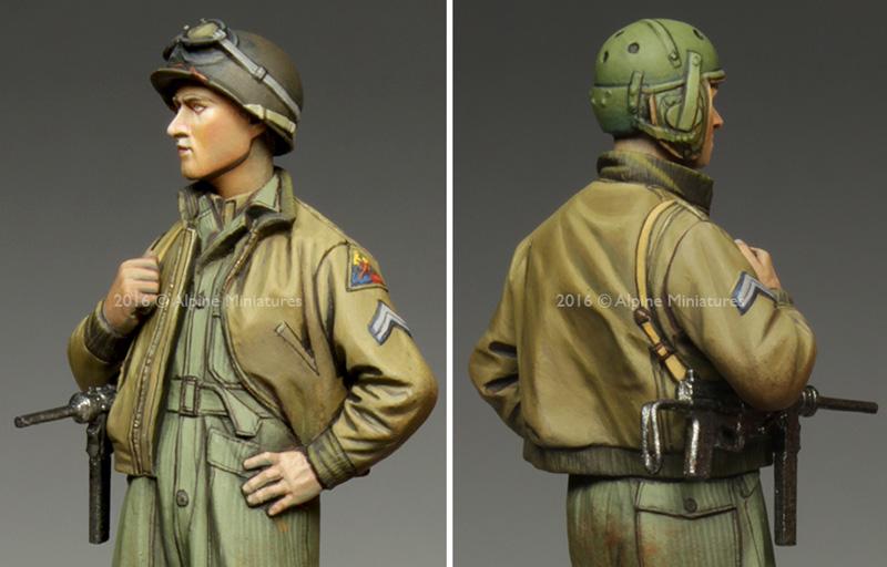 WW2 アメリカ 第3機甲師団 伍長 (HBTツナギ)レジン(アルパイン1/35 フィギュアNo.AM35217)商品画像_2