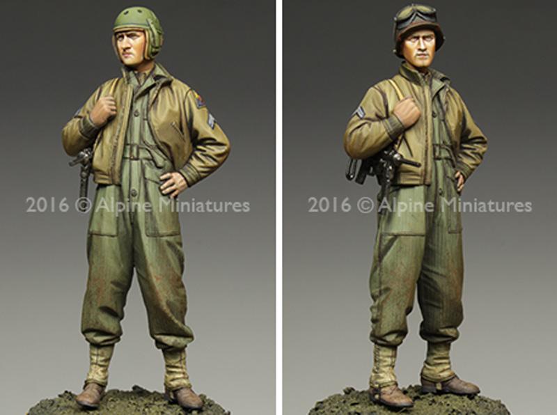 WW2 アメリカ 第3機甲師団 伍長 (HBTツナギ)レジン(アルパイン1/35 フィギュアNo.AM35217)商品画像_3