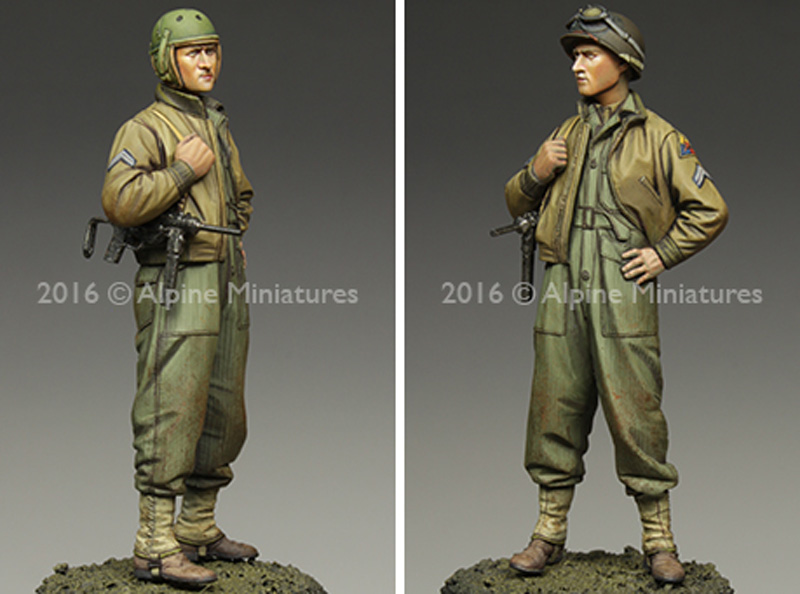 WW2 アメリカ 第3機甲師団 伍長 (HBTツナギ)レジン(アルパイン1/35 フィギュアNo.AM35217)商品画像_4