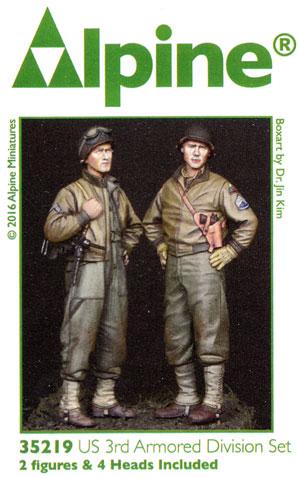 WW2 アメリカ 第3機甲師団 乗員 (2体セット)レジン(アルパイン1/35 フィギュアNo.AM35219)商品画像