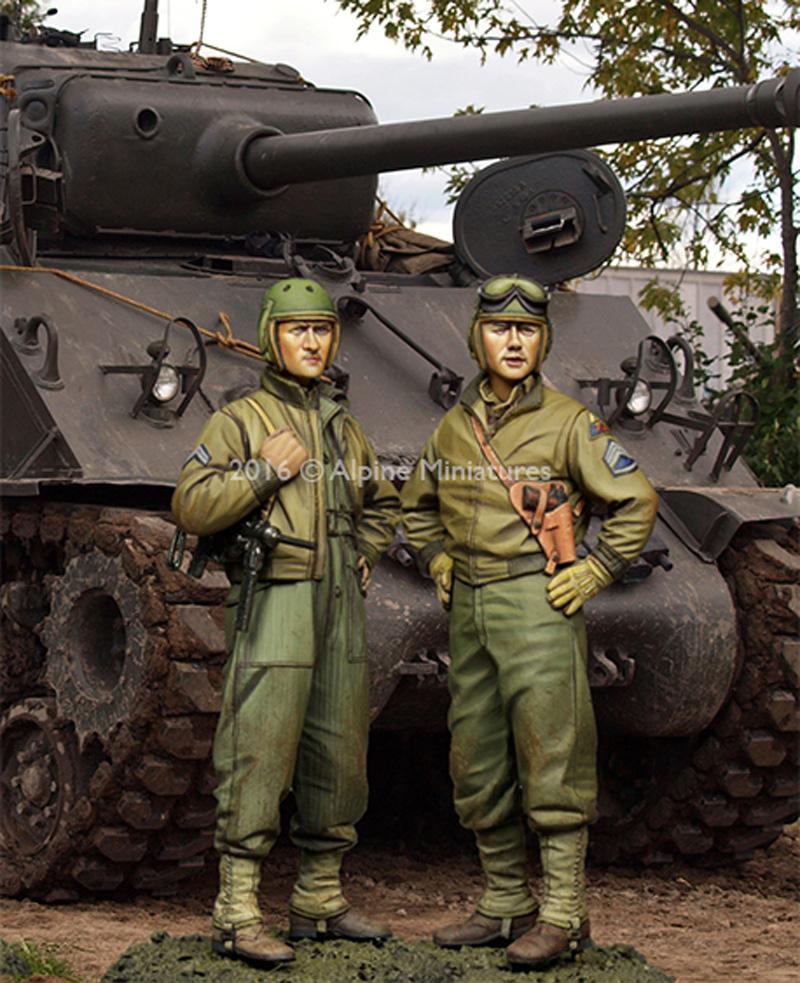 WW2 アメリカ 第3機甲師団 乗員 (2体セット)レジン(アルパイン1/35 フィギュアNo.AM35219)商品画像_2