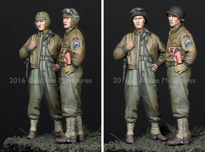 WW2 アメリカ 第3機甲師団 乗員 (2体セット)レジン(アルパイン1/35 フィギュアNo.AM35219)商品画像_3