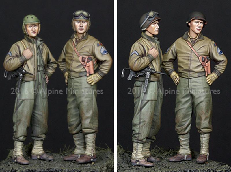 WW2 アメリカ 第3機甲師団 乗員 (2体セット)レジン(アルパイン1/35 フィギュアNo.AM35219)商品画像_4
