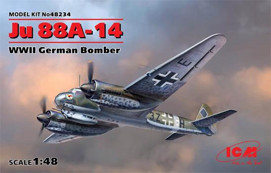 ユンカース Ju88A-14 爆撃機プラモデル(ICM1/48 エアクラフト プラモデルNo.48234)商品画像