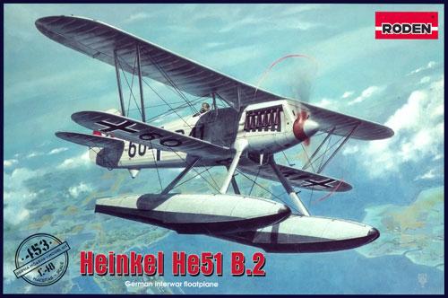 ハインケル He51B.2プラモデル(ローデン1/48 エアクラフト プラモデルNo.453)商品画像