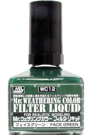 フェイスグリーン塗料(GSIクレオスMr.ウェザリングカラー フィルタ・リキッドNo.WC012)商品画像