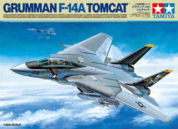 グラマン F-14A トムキャットプラモデル(タミヤ1/48 傑作機シリーズNo.114)商品画像