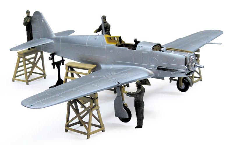 三式戦闘機 飛燕 1型丁 244戦隊プラモデル(アオシマ1/72 真・大戦機シリーズNo.016)商品画像_2