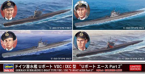 ドイツ潜水艦 Uボート 7C/9C型 Uボート エース Part 2プラモデル(ハセガワ1/700 ウォーターラインシリーズNo.30040)商品画像