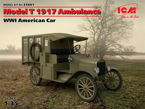 T型フォード 1917 救急車プラモデル(ICM1/35 ミリタリービークル・フィギュアNo.35661)商品画像