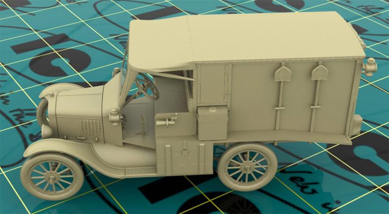 T型フォード 1917 救急車プラモデル(ICM1/35 ミリタリービークル・フィギュアNo.35661)商品画像_2