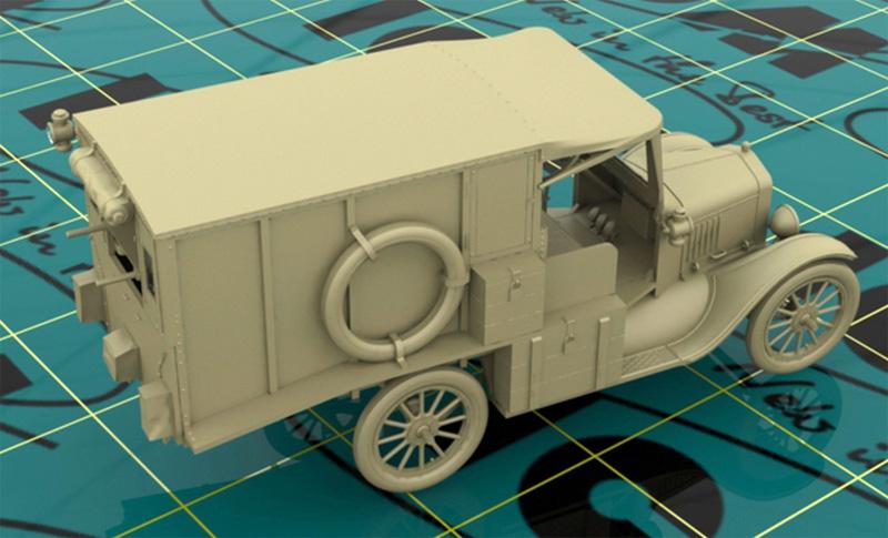 T型フォード 1917 救急車プラモデル(ICM1/35 ミリタリービークル・フィギュアNo.35661)商品画像_3