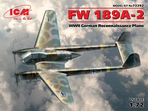 フォッケウルフ Fw189A-2プラモデル(ICM1/72 エアクラフト プラモデルNo.72292)商品画像