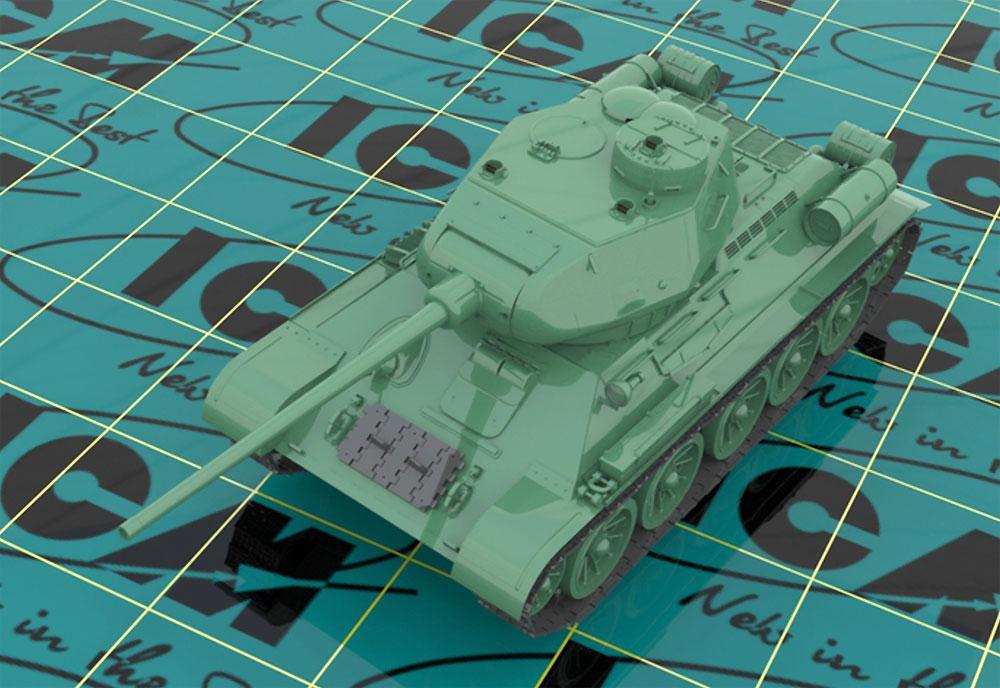 ソビエト T-34/85プラモデル(ICM1/35 ミリタリービークル・フィギュアNo.35367)商品画像_2