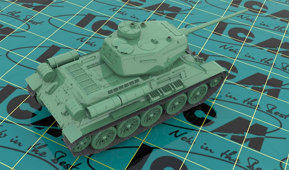 ソビエト T-34/85プラモデル(ICM1/35 ミリタリービークル・フィギュアNo.35367)商品画像_3