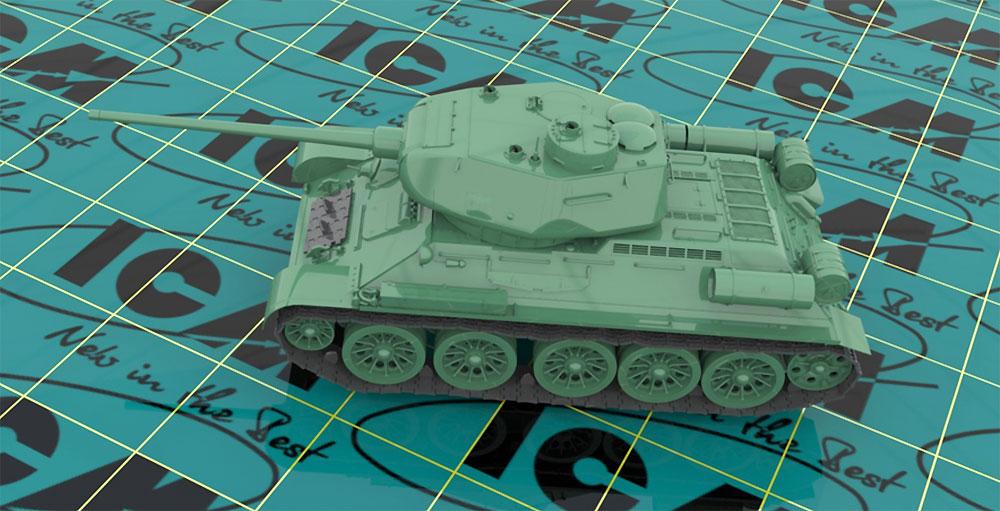 ソビエト T-34/85プラモデル(ICM1/35 ミリタリービークル・フィギュアNo.35367)商品画像_4