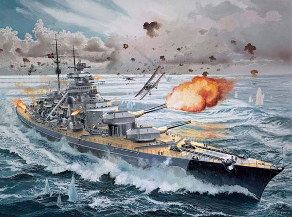 ドイツ戦艦 ビスマルク (プレミアムエディション)プラモデル(レベル1/350 艦船モデルNo.05144)商品画像