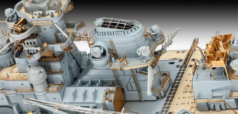 ドイツ戦艦 ビスマルク (プレミアムエディション)プラモデル(レベル1/350 艦船モデルNo.05144)商品画像_4