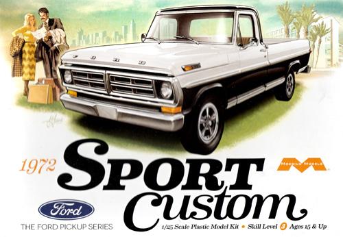 1972 フォード スポーツカスタム ピックアップトラックプラモデル(メビウスメビウス プラスチックモデル組立キットNo.1220)商品画像