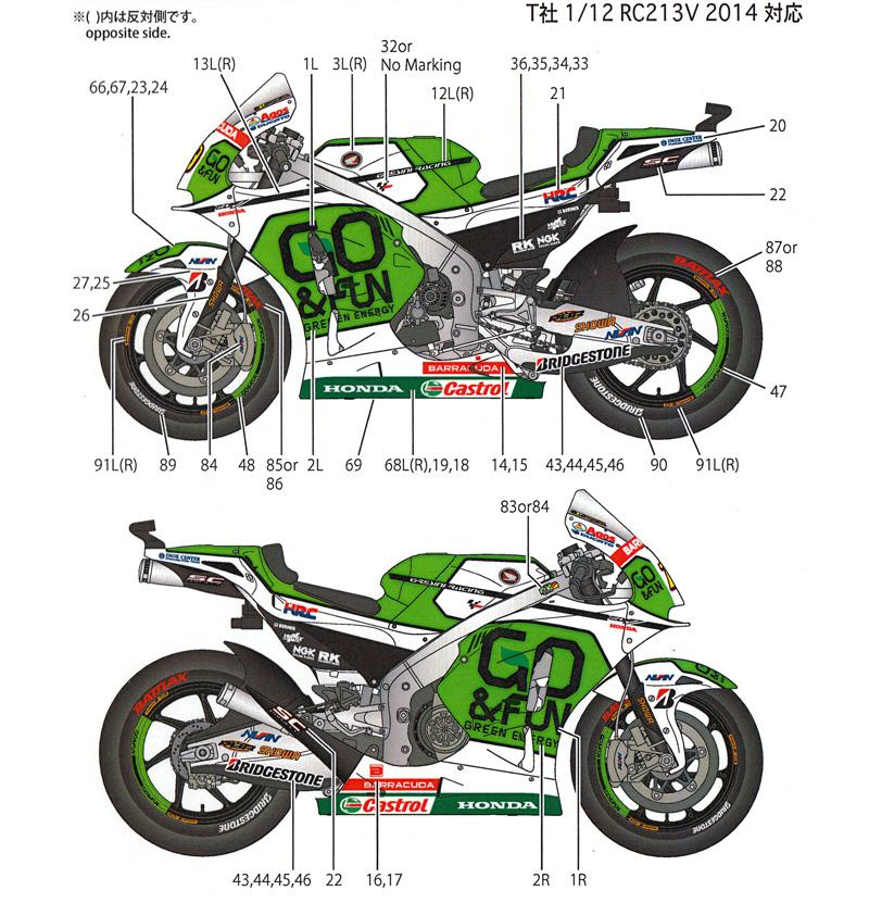 ホンダ RC213V-S グレシーニ #19 MotoGP 2014 デカールデカール(スタジオ27バイク オリジナルデカールNo.DC1163)商品画像_2