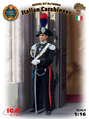 イタリア 国家憲兵 カラビニエリプラモデル(ICM1/16 ワールドガードNo.16003)商品画像