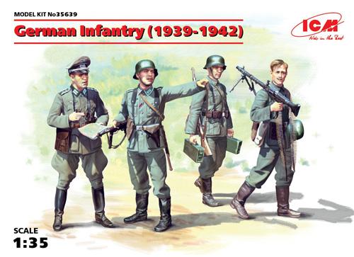 ドイツ歩兵 (1939-1941)プラモデル(ICM1/35 ミリタリービークル・フィギュアNo.35639)商品画像