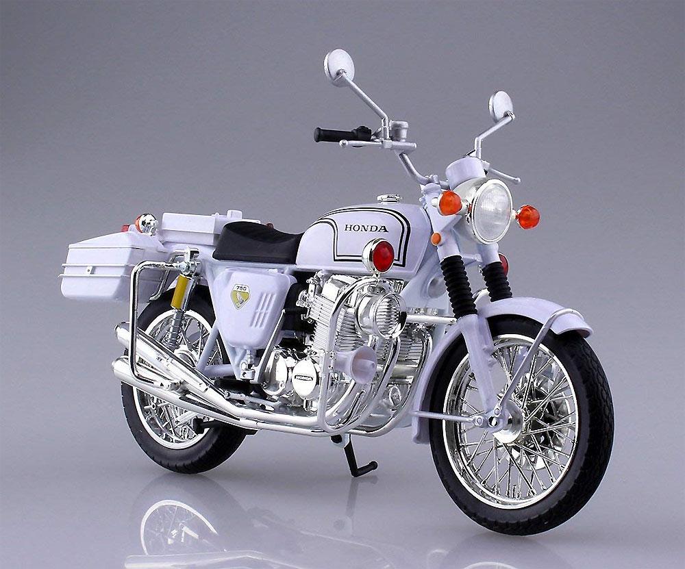 ホンダ CB750FOUR 白バイ完成品(アオシマ1/12 完成品バイクシリーズNo.104651)商品画像_1