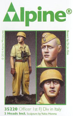 WW2 ドイツ イタリア戦線の第1降下猟兵師団 将校 (熱帯軍装)レジン(アルパイン1/35 フィギュアNo.AM35220)商品画像