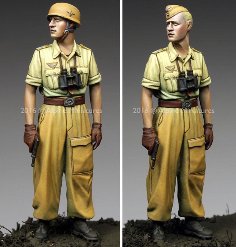 WW2 ドイツ イタリア戦線の第1降下猟兵師団 将校 (熱帯軍装)レジン(アルパイン1/35 フィギュアNo.AM35220)商品画像_2