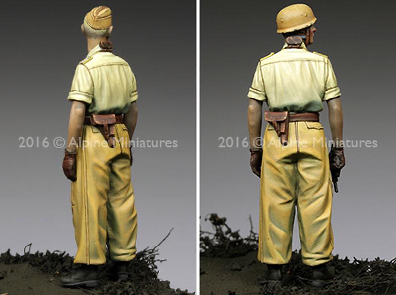 WW2 ドイツ イタリア戦線の第1降下猟兵師団 将校 (熱帯軍装)レジン(アルパイン1/35 フィギュアNo.AM35220)商品画像_4
