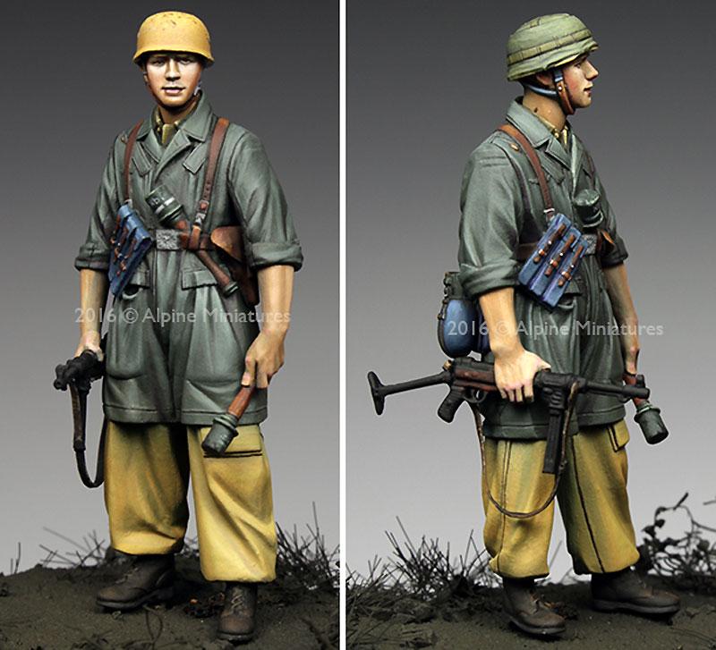 WW2 ドイツ イタリア戦線の第1降下猟兵師団 下士官 (熱帯軍装)レジン(アルパイン1/35 フィギュアNo.AM35221)商品画像_2