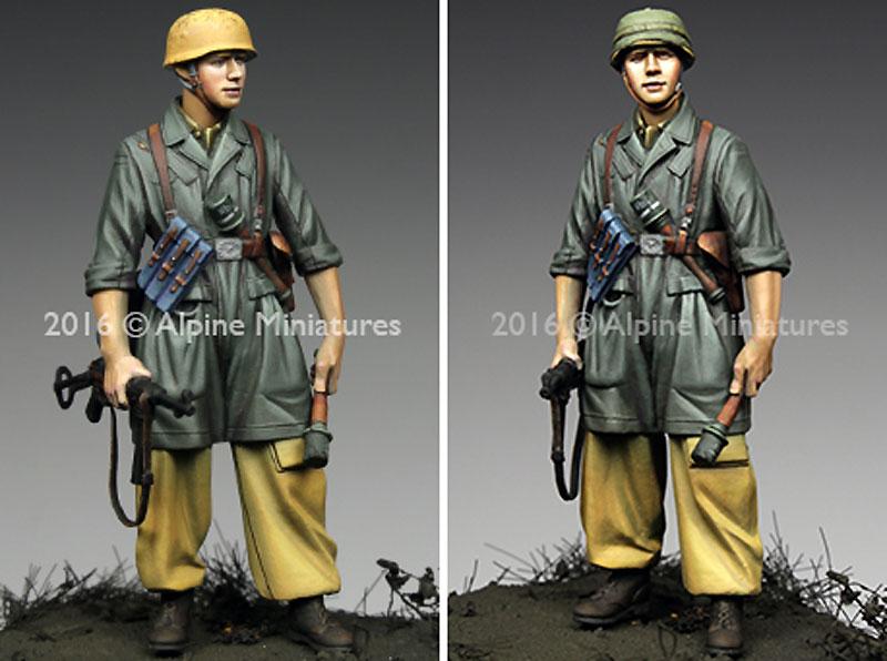 WW2 ドイツ イタリア戦線の第1降下猟兵師団 下士官 (熱帯軍装)レジン(アルパイン1/35 フィギュアNo.AM35221)商品画像_3