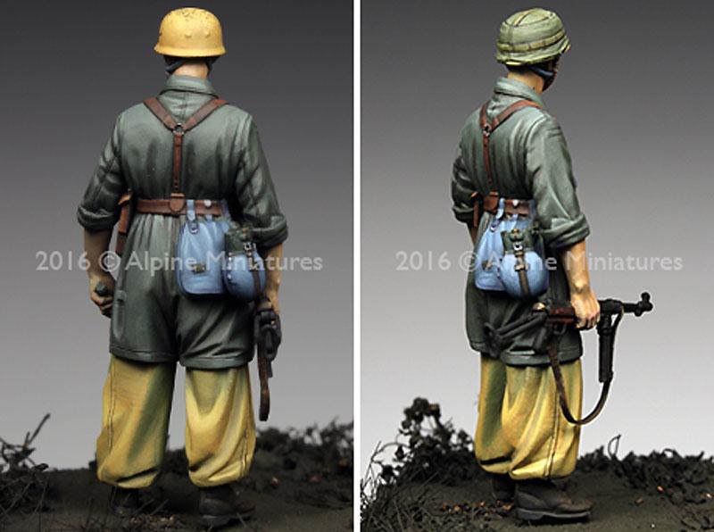 WW2 ドイツ イタリア戦線の第1降下猟兵師団 下士官 (熱帯軍装)レジン(アルパイン1/35 フィギュアNo.AM35221)商品画像_4