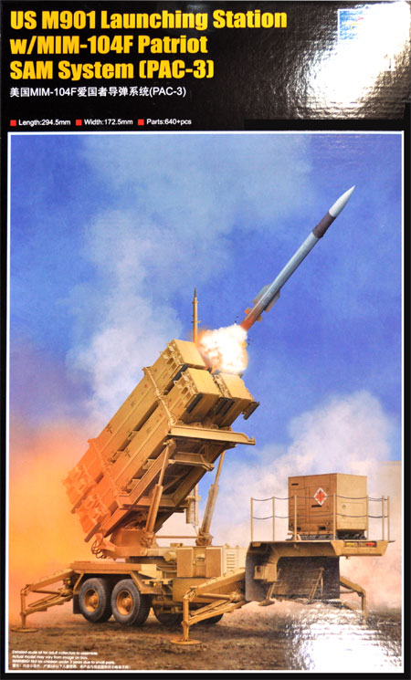 ペトリオット PAC-3 地対空ミサイルシステム (M901 w/MIM-104F)プラモデル(トランペッター1/35 AFVシリーズNo.01040)商品画像