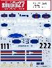 ポルシェ 962C #1/#2 WEC 1986 デカール