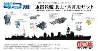 ファインモールド1/700 ナノ・ドレッド シリーズ重雷装艦 北上・大井用セット