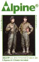 アルパイン1/35 フィギュアWW2 アメリカ 第3機甲師団 乗員 (2体セット)