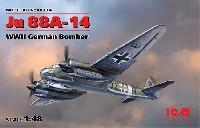 ICM1/48 エアクラフト プラモデルユンカース Ju88A-14 爆撃機
