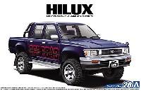アオシマ1/24 ザ・モデルカートヨタ LN107 ハイラックス ピックアップ ダブルキャブ 4WD '94