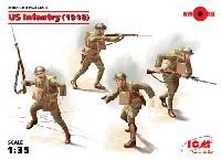 ICM1/35 ミリタリービークル・フィギュアアメリカ歩兵 (1918)