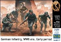 マスターボックス1/35 ミリタリーミニチュアドイツ軍 歩兵 WW2前期