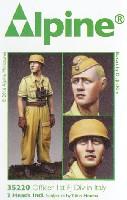 WW2 ドイツ イタリア戦線の第1降下猟兵師団 将校 (熱帯軍装)