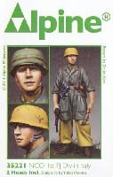 WW2 ドイツ イタリア戦線の第1降下猟兵師団 下士官 (熱帯軍装)