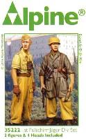 アルパイン1/35 フィギュアWW2 ドイツ イタリア戦線の第1降下猟兵師団 (2体セット) (熱帯軍装)